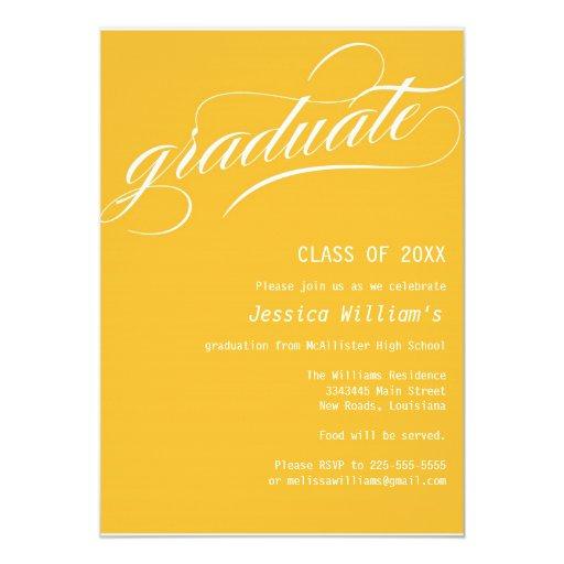 Fiesta de graduación formal invitación 12,7 x 17,8 cm