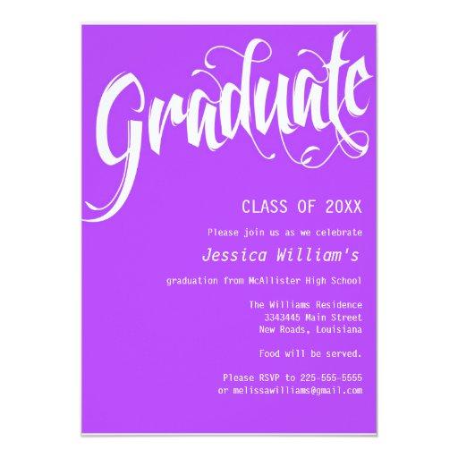 """Fiesta de graduación formal invitación 5"""" x 7"""""""