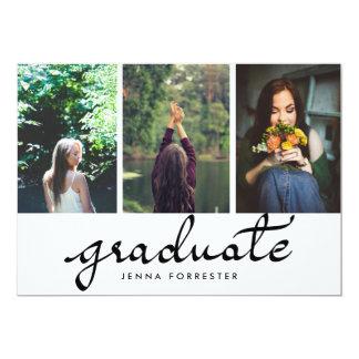 """Fiesta de graduación graduada de las fotos de la invitación 5"""" x 7"""""""