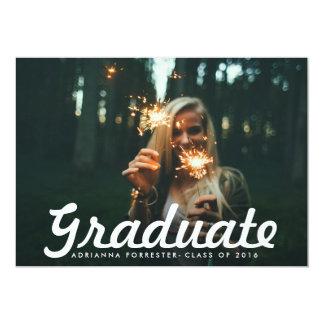 """Fiesta de graduación graduada intrépida casual de invitación 5"""" x 7"""""""