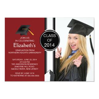 Fiesta de graduación graduada moderna de la foto invitacion personal