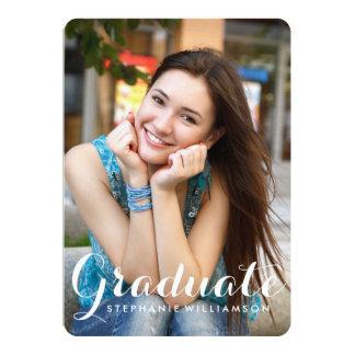 Fiesta de graduación graduada preciosa de la foto invitación 12,7 x 17,8 cm