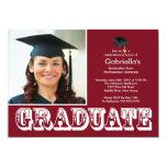 Fiesta de graduación marrón graduada moderna de la invitacion personal