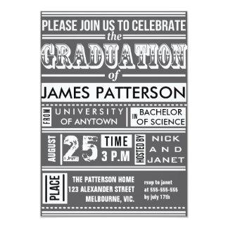 Fiesta de graduación moderna del poster invitación 12,7 x 17,8 cm