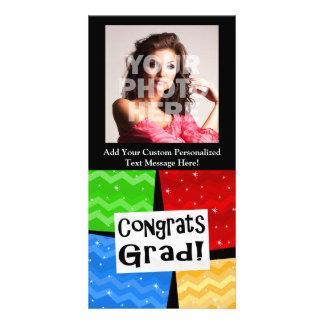 Fiesta de graduación multicolora festiva del tarjeta fotografica