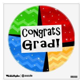 Fiesta de graduación multicolora festiva del vinilo decorativo