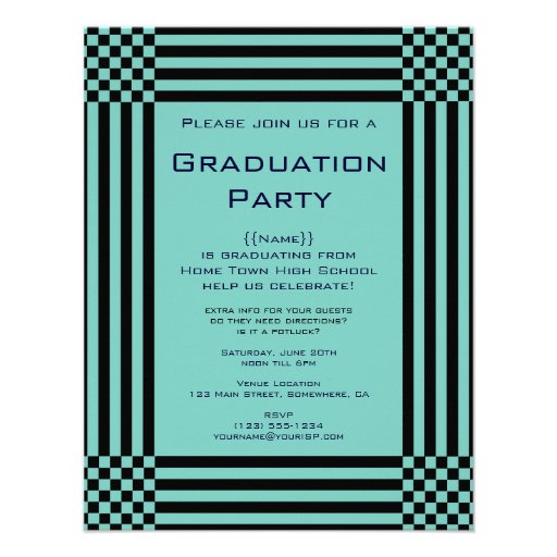 Fiesta de graduación negra de las rayas de los ins comunicados personales