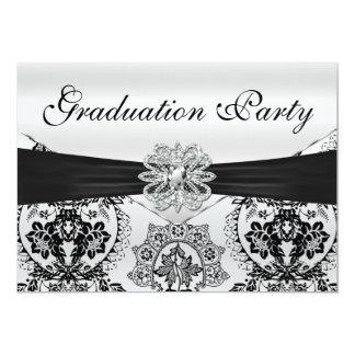 Fiesta de graduación negra y de plata imponente comunicados personales