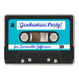 """Fiesta de graduación retra de la cinta de casete invitación 4.5"""" x 6.25"""""""