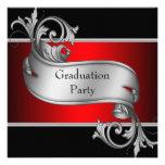 Fiesta de graduación roja y negra comunicado personal