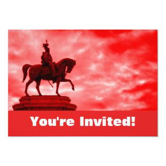 """Fiesta de graduación romana personalizada de la invitación 5"""" x 7"""""""