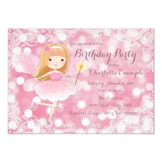 """Fiesta de hadas de la princesa cumpleaños de los invitación 4.5"""" x 6.25"""""""
