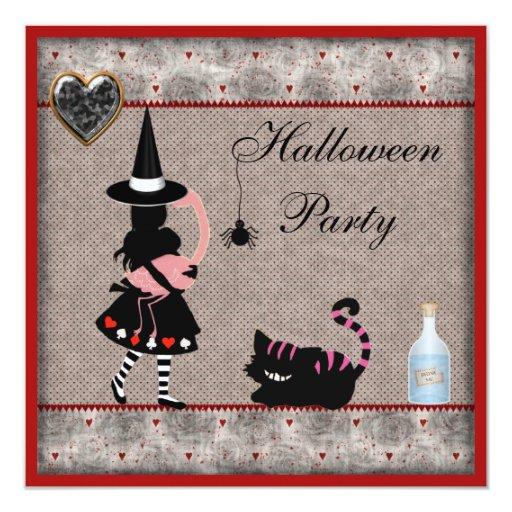 Fiesta de Halloween de Alicia, del flamenco y del Anuncio