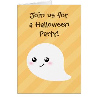 Fiesta de Halloween de Kawaii de los niños lindos  Tarjeta Pequeña