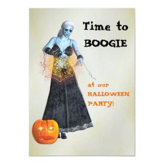 Fiesta de Halloween de la bruja del zombi de la Invitación