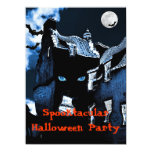 Fiesta de Halloween de la casa encantada Invitación 13,9 X 19,0 Cm