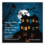 Fiesta de Halloween de la casa encantada Invitaciones Personales