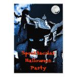 Fiesta de Halloween de la casa encantada Invitación 8,9 X 12,7 Cm