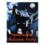 Fiesta de Halloween de la casa encantada Invitación 10,8 X 13,9 Cm
