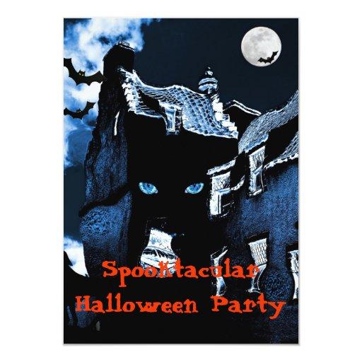 Fiesta de Halloween de la casa encantada Invitación 11,4 X 15,8 Cm