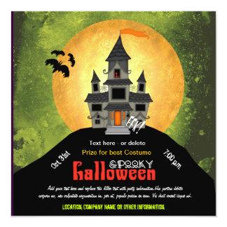 Fiesta de Halloween de la casa encantada Comunicados Personalizados