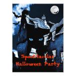 Fiesta de Halloween de la casa encantada Invitación 16,5 X 22,2 Cm