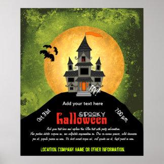 Fiesta de Halloween de la casa encantada Posters