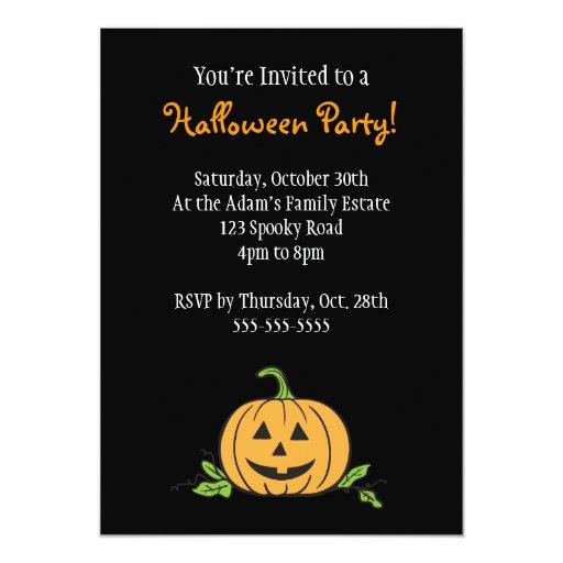 """Fiesta de Halloween de la linterna de O de Jack ' Invitación 5"""" X 7"""""""