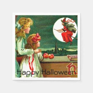 Fiesta de Halloween de la luna de la bruja de los Servilletas De Papel