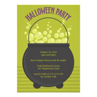 Fiesta de Halloween del Brew de las brujas Invitacion Personalizada