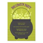 Fiesta de Halloween del Brew de las brujas Invitación 12,7 X 17,8 Cm