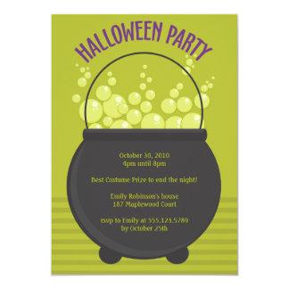 """Fiesta de Halloween del Brew de las brujas Invitación 5"""" X 7"""""""