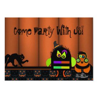 """Fiesta de Halloween del golpe del monstruo Invitación 5"""" X 7"""""""