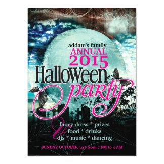 """Fiesta de Halloween del Hada-cuento de la luna de Invitación 5.5"""" X 7.5"""""""