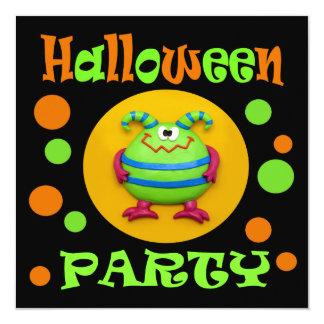 """Fiesta de Halloween del monstruo Invitación 5.25"""" X 5.25"""""""