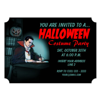 """Fiesta de Halloween del vampiro Invitación 5"""" X 7"""""""