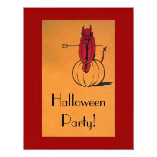 Fiesta de Halloween del vintage Invitación Personalizada