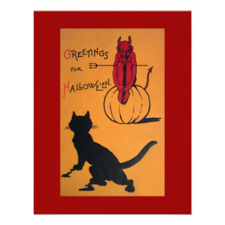 Fiesta de Halloween del vintage Comunicado Personal