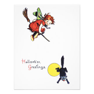 Fiesta de Halloween del vintage Invitaciones Personales