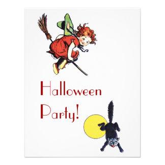 Fiesta de Halloween del vintage Comunicados Personalizados