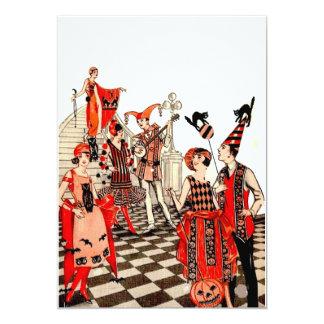 """Fiesta de Halloween del vintage Invitación 5"""" X 7"""""""