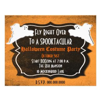 Fiesta de Halloween del vintage o aviador de las Tarjetas Publicitarias