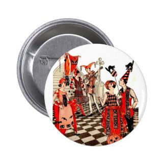 Fiesta de Halloween del vintage Pin Redondo De 2 Pulgadas
