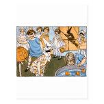 Fiesta de Halloween del vintage Tarjeta Postal