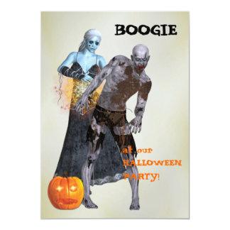 """Fiesta de Halloween del zombi de la boogie Invitación 5"""" X 7"""""""