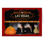 Fiesta de Halloween en la tarjeta de Las Vegas