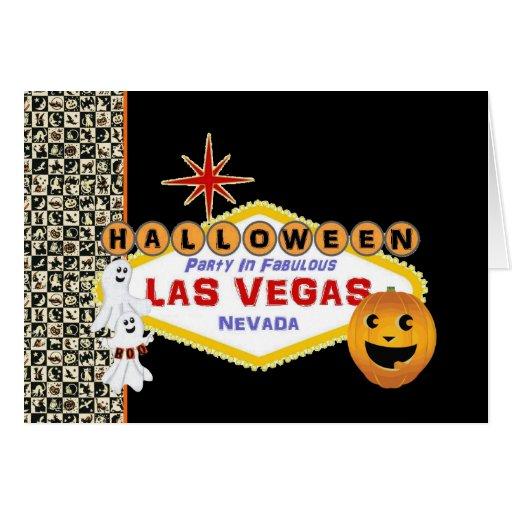 Fiesta de Halloween en la tarjeta fabulosa de Las