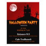 """Fiesta de Halloween Folleto 8.5"""" X 11"""""""