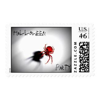Fiesta de Halloween franqueo de la araña