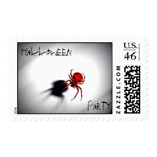 Fiesta de Halloween, franqueo de la araña
